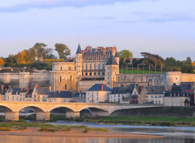 Royal Castle of Amboise and Loire river