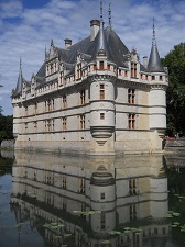 château of Azay-le-Rideau in the heart of France, Touraine