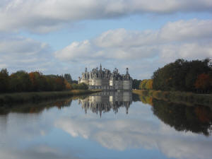chateau of Chambord in autumn : one of the most famous castles in France