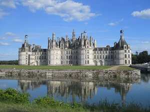 chateau of Chambord in summer