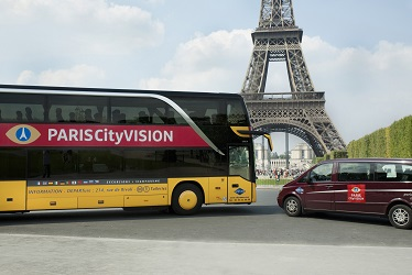 Paris Bus Eiffelturm